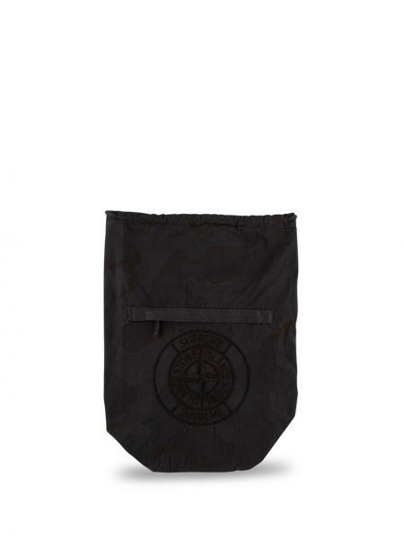 Czarny plecak z haftem Supreme