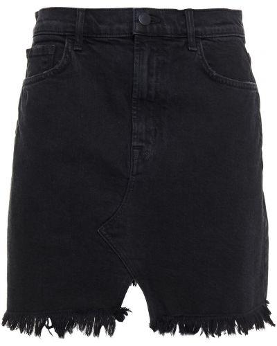 Джинсовая юбка мини - черная J Brand