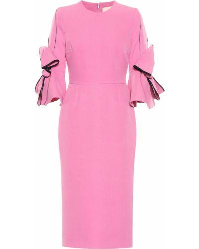 Платье миди розовое коктейльное Roksanda