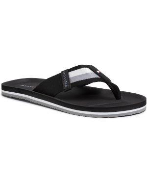 Czarne sport sandały na plażę Tommy Hilfiger