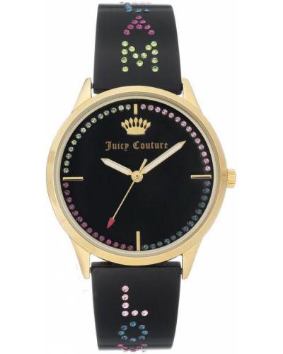Czarny złoty zegarek mechaniczny na co dzień Juicy Couture