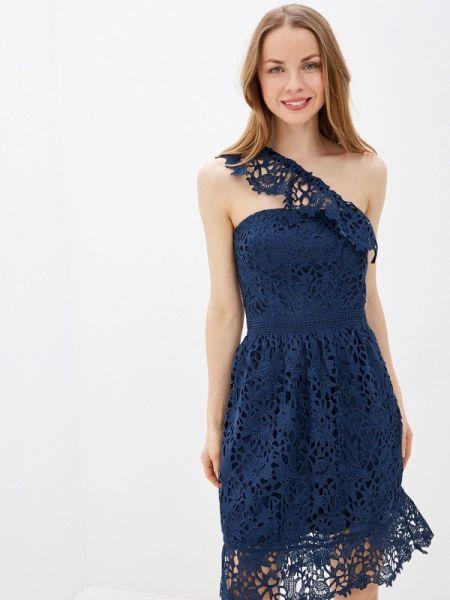 Синее вечернее платье Chi Chi London