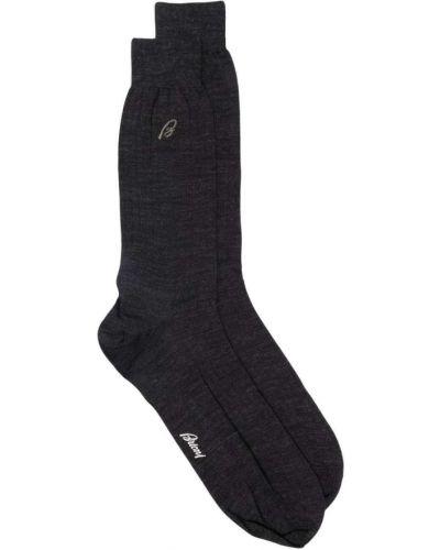 Шелковые носки - серые Brioni