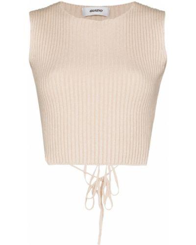 Crop top z nylonu sznurowana koronkowa Danielle Guizio