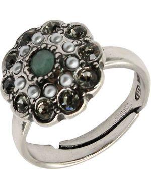 Кольцо с жемчугом из серебра Stile Italiano