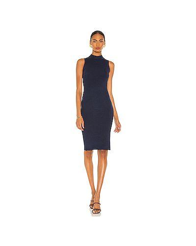 Синее шелковое платье L'agence
