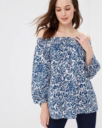 Блузка с открытыми плечами индийский синяя Iwie
