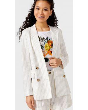 Пиджак в полоску льняной Ostin