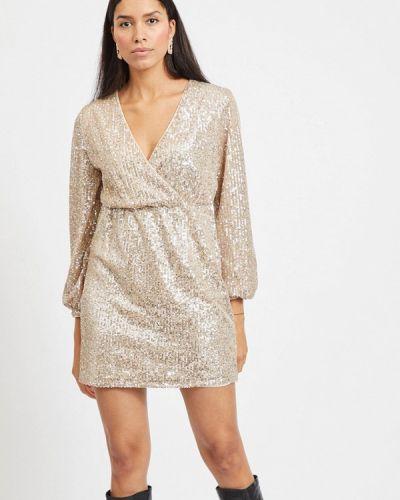 Бежевое вечернее платье Vila