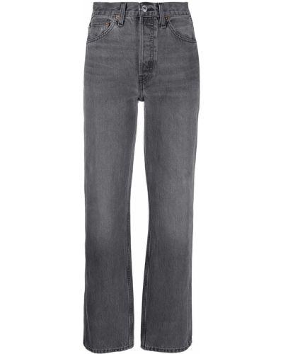 Niebieski z wysokim stanem klasyczny jeansy z kieszeniami Re/done