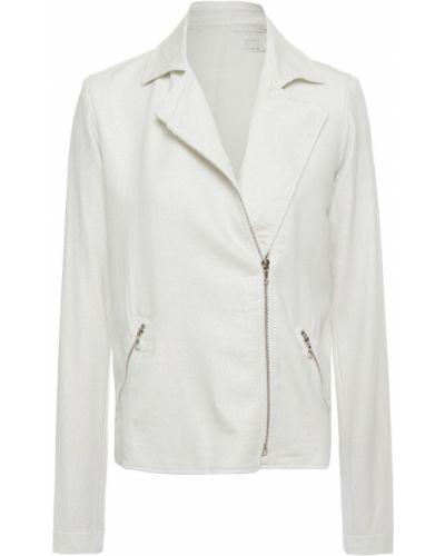 Трикотажная серебряная куртка с карманами Majestic Filatures