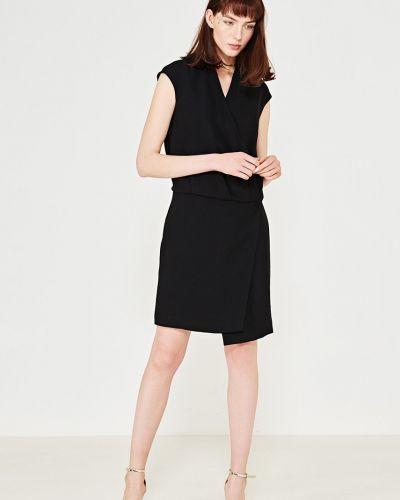 Платье мини с запахом с поясом Simple