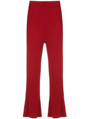 Красные расклешенные брюки из вискозы Osklen