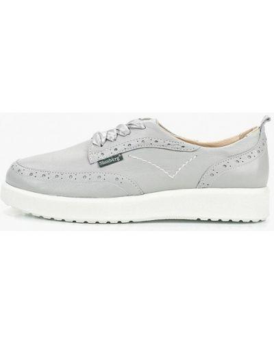 Кожаные ботинки на каблуке низкие Shoiberg