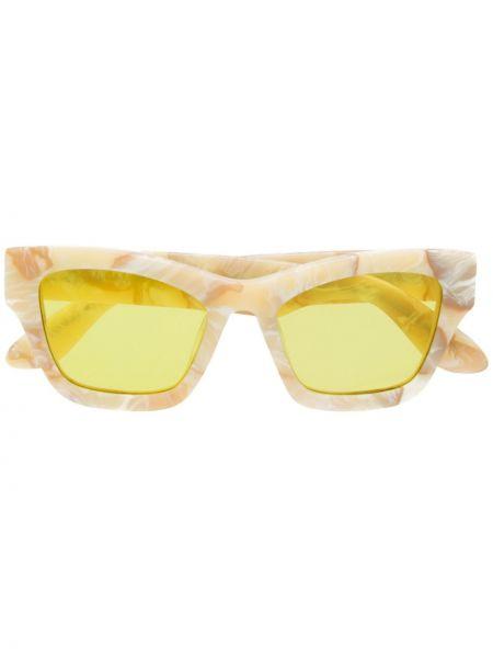 Прямые муслиновые желтые солнцезащитные очки квадратные Han Kjøbenhavn