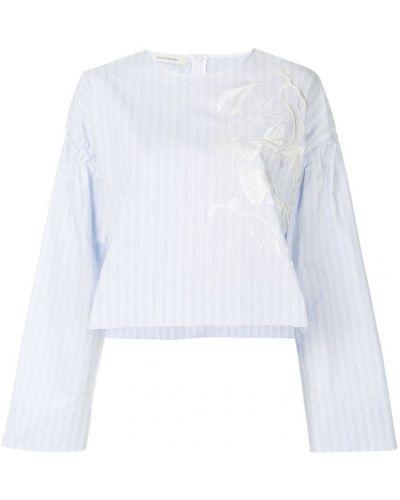 Блузка в полоску хлопковая Cédric Charlier