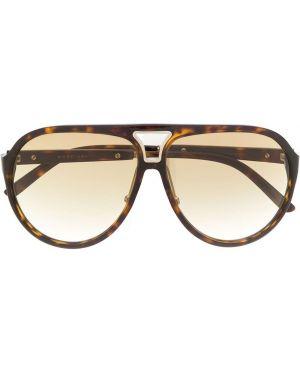 Муслиновые солнцезащитные очки хаки Marc Jacobs Eyewear