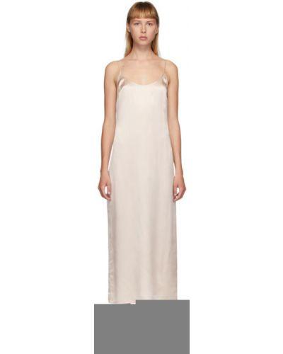 Шелковое розовое платье без рукавов La Perla