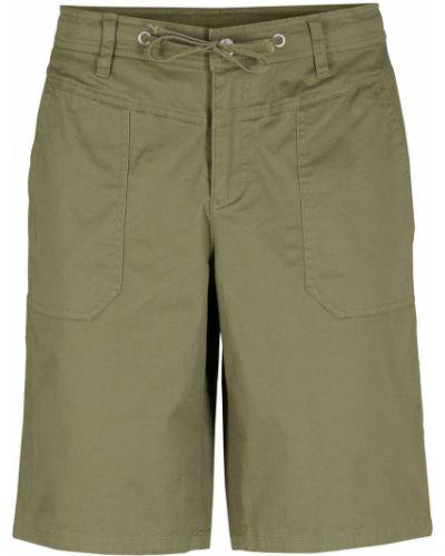 Зеленые брюки с завязками Bonprix