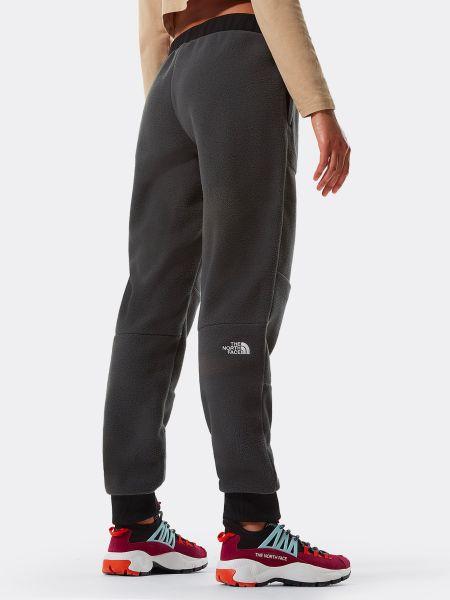 Флисовые теплые серые спортивные брюки The North Face