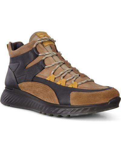 Высокие кроссовки замшевые коричневый Ecco
