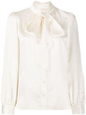 Шелковая блузка - белая Tory Burch