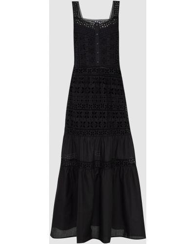 Черное платье макси Ermanno Scervino
