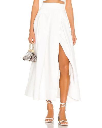 Белая плиссированная юбка из вискозы C/meo