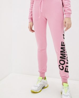 Пуховые розовые спортивные брюки Comme Des Fuckdown
