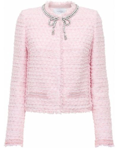 Розовая куртка с воротником с карманами Giambattista Valli