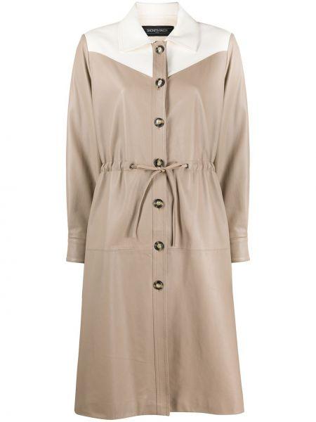 Кожаная куртка с воротником с карманами Simonetta Ravizza
