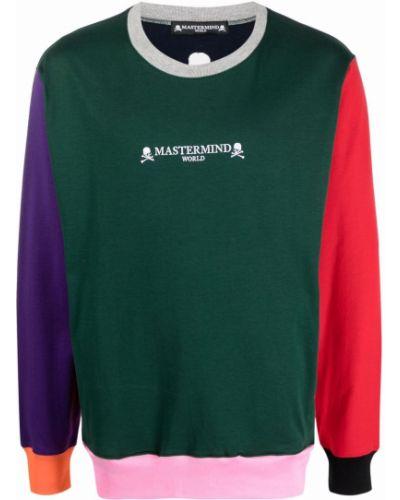 Zielona bluza długa z długimi rękawami bawełniana Mastermind World