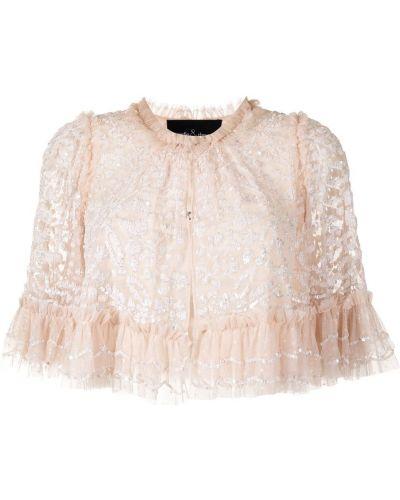 Розовая кофта без рукавов Needle & Thread