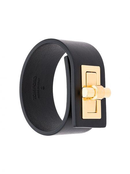 Кожаный браслет - черный Tom Ford