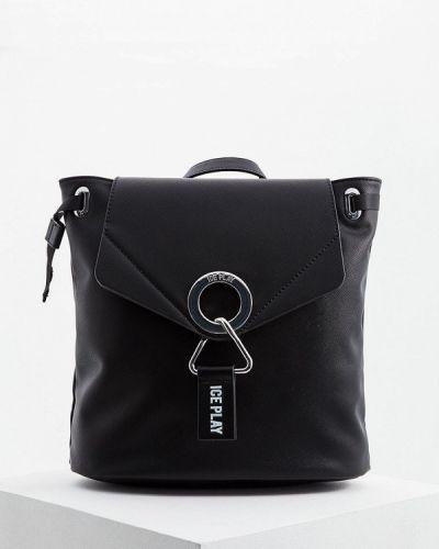 Рюкзак черный из искусственной кожи Ice Play