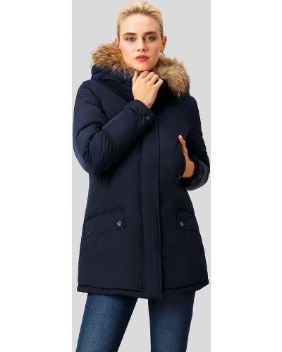 Утепленная куртка с енотом с перьями Finn Flare