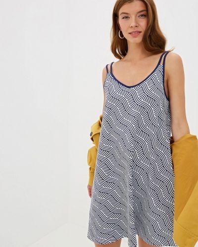Платье платье-майка синее наше