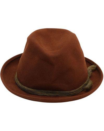 Brązowy kapelusz z wiskozy Superduper