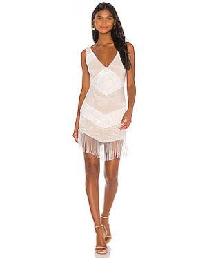 Платье мини с пайетками с бахромой Nbd