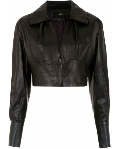 Черная короткая куртка Andrea Bogosian