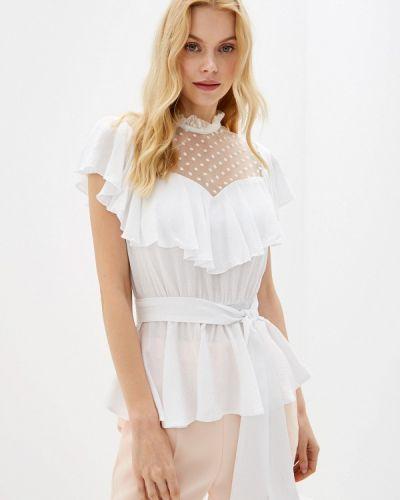 Блузка с рюшами белая Gepur