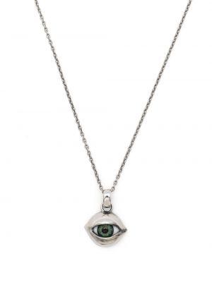 Ażurowy naszyjnik srebrny Yohji Yamamoto