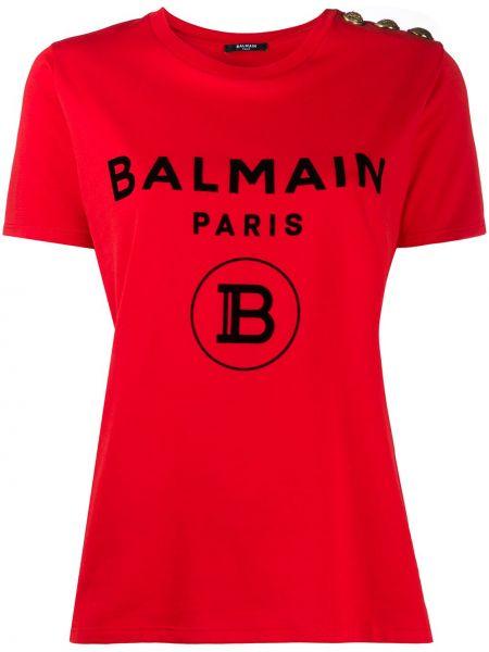 Koszula z logo Balmain