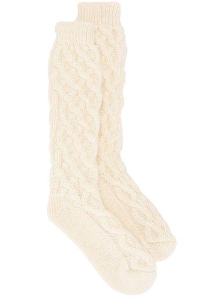 Białe prążkowane skarpety wełniane Dolce And Gabbana