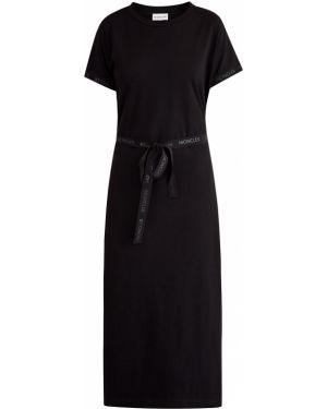 Платье миди спортивное с поясом Moncler