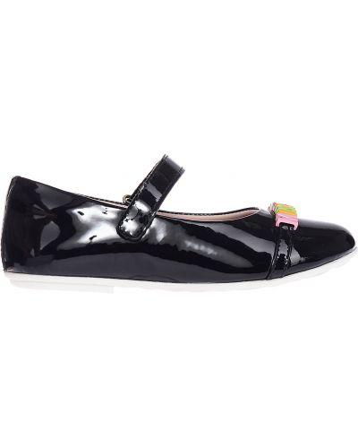 Черные туфли лаковые Moschino