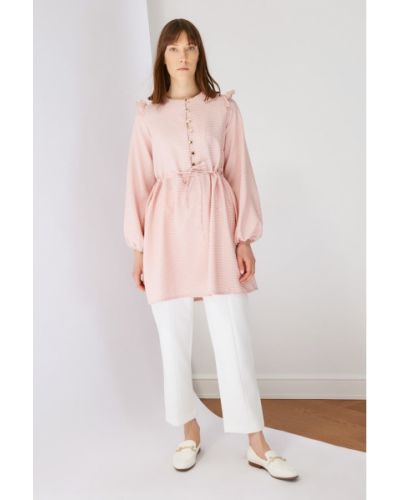 Różowa tunika zapinane na guziki Koton