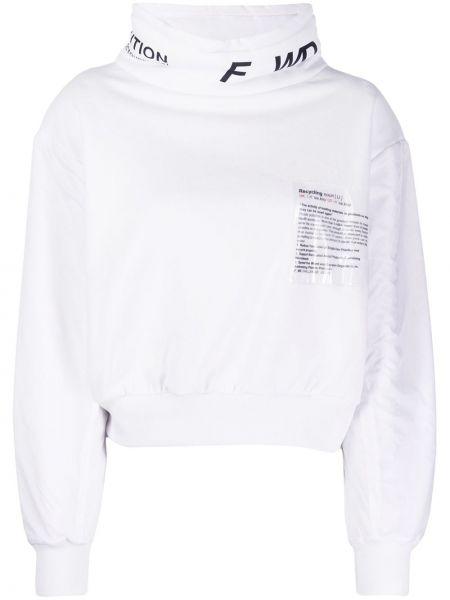 Bluza z długimi rękawami bawełniana z printem F_wd