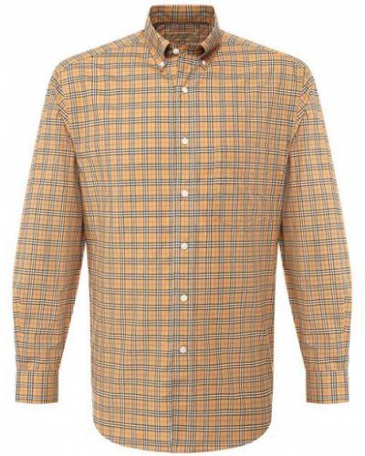 Бежевая рубашка хлопковая Burberry