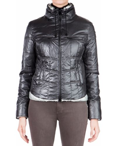 Куртка осенняя серебряного цвета Armani Jeans